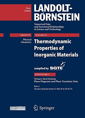 Thermodynamic Properties of Inorganic Materials Compiled by SGTE: Subvolume C: Ternary Steel Systems, Phase Diagrams and Phase Transition Data, Part ... Science and Technology - New Series (19C2))