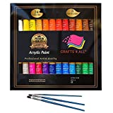 Best Peintures acryliques - Peinture acrylique 24 Set by Crafts 4 All® Review