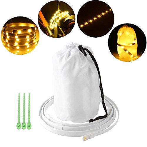 Maison 6 Licht (5ft Camping LED String Lights Wasserdichte tragbare USB Powered Streifen Lichter Laterne Nacht Lampe zum Wandern, Notfälle)