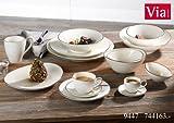 Via By R&B Geschirr-Serie Cosmo Grau Größe Kaffeebecher 400 ml Grau Cosmo