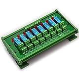 ELECTRONICS-SALON DIN montaje en riel de 8 DPDT Módulo de relé de interfaz, DC24V versión.