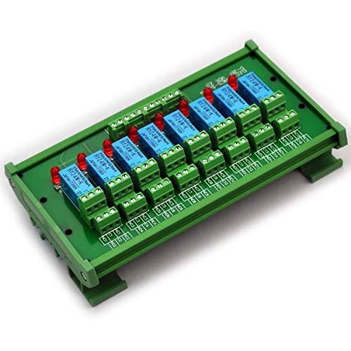 Electronics-Salon Montage sur rail DIN 8 Module d'interface de relais de signaux DPDT, DC24V Version.