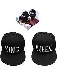 Casquette de baseball pour amoureux ou couple QUEEN et KING -Black