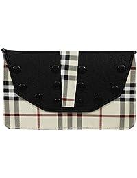 Stylinc Women's Sling Bag Black & White