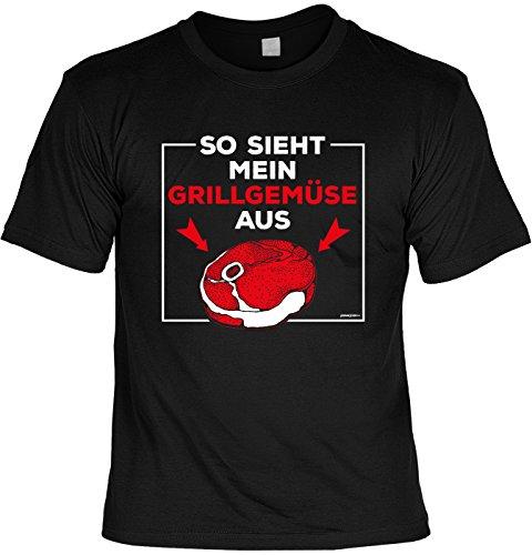 Motiv/Grill/Spaß-Shirt/Fun-Shirt/Rubrik lustige Sprüche: so sieht mein Grillgemüse aus - geniales Geschenk Schwarz