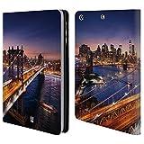 Head Case Designs Brooklyn Bridge Skylines Der Städte Brieftasche Handyhülle aus Leder für iPad Mini 1 / Mini 2 / Mini 3