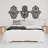 Adhesivos Yoga de pared Mano Fatima Hamsa indio Buda Ganesh adhesivo Lotus vinilo dormitorio decoración mural de casa de diseño de interiores mn953