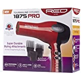 Kiss Products Red by Kiss 1875 Watt Ceramic Tourmaline Dryer with Pik Attachment