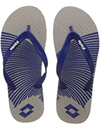 Lotto Men's Grey/Blue Hawaii House Slippers