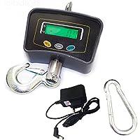 OUKANING 500 KG/1100 Patalla LED Inteligente Báscula Electrónica Digital Portátil con Gancho Resistente Crane