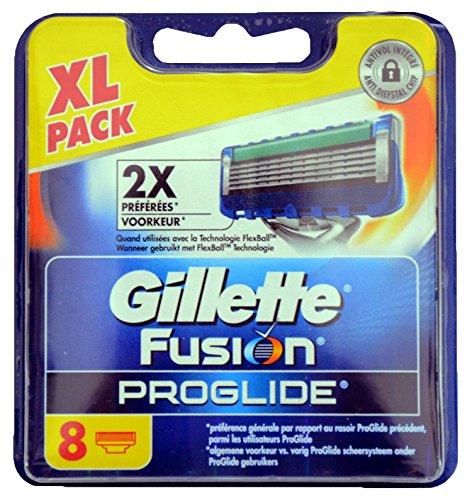 Gillette Fusion ProGlide Rasierklingen, 8Stück–dermatologisch getestet