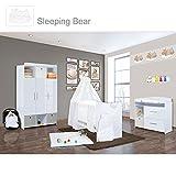 Babyzimmer Mexx in Weiss Hochglanz 22 tlg. Mit 3 türigem Kl. + Sleeping Bear Weiss
