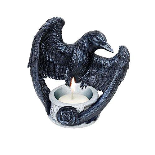 Alchemy Gothic Raven's Ward Tea Light Candle Holder