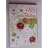 Glückwunschkarte 85. Geburtstag