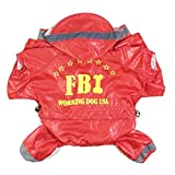 SkyRam (TM) 4 Gr??en FBI Hoodies Wasserdichtes Welpen Kleidung Haustier Hund Raincoat Kleidung