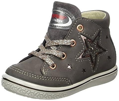 Ricosta Mädchen Sinja Hohe Sneaker, Grau (Meteor), 24 EU