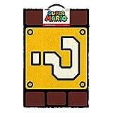 Super Mario Vraag Mark Blok Deurmat, Coir, Multi-Kleur, 40_x_60_cm