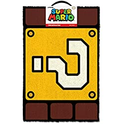 Super Mario Felpudo QUESTION Mark Block, Vinilo, 40 x 60 cm