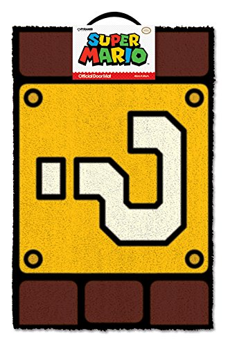 Nintendo - Super Mario Question Block Door Mat (Block Mario)