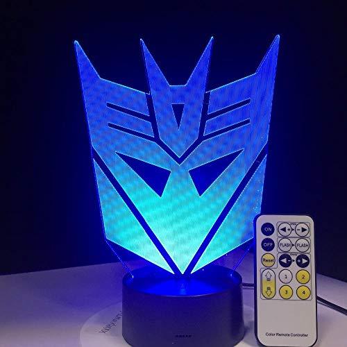 Kinder Transformatoren Maske Led Nachtlicht Atmosphäre Tischlampe 7 Farben Kinder Schlafzimmer Touch Fernbedienung Dekorative Lichter ()