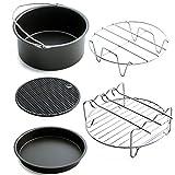 PassionSell 5 Pcs Air Fryer Backkorb 7-inch Pizza Teller Grill Pot Mat Ständer Multifunktions Home Küchenzubehör