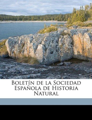 Boletín de la Sociedad Española de Historia Natural Volume 9