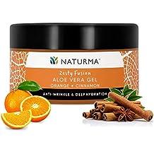 Naturma Hydrating Cinnamon and Orange Gel, Natural and Organic with Aloe Vera, Anti-Wrinkle Deep-Hydration, 100gm