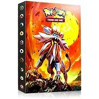Álbum de Pokemon, Álbum Titular de Tarjetas Pokémon Pokemon Cards Album Pokemon Cards Album Book La Mejor protección para Pokemon Trading Cards GX EX (Sun and Mood)