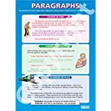 Paragraphs |English Language Educational Wall Chart/Poster in high gloss paper (A1 840mm x 584mm)