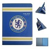 uk-cherry Galaxy Tab 410,1Zoll Kissenbezüge, Real Madrid Barcelona Chelsea Liverpool Arsenal Fußball 'équipe Flip PU Leder Schutzhülle für Samsung Galaxy Tab 410,1Zoll SM-T530/SM-T531/SM-T535 Galaxy Tab 4 10,1 pulgadas SM-T530 Chelsea