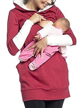 Zonsaoja Lactancia Maternidad Enfermeria Mujeres Sudadera Pullover Hoodie