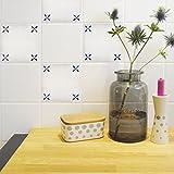Boubouki Wasserabweisende Fliesenaufkleber Enno – für Bad und Küche | 15 x 15 cm