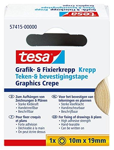 tesa Grafik- und Fixierkrepp, rückstandsfrei ablösbar, 10m x 19mm - 2