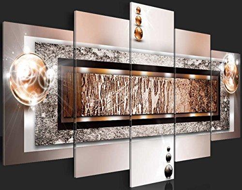 murando - Acrylglasbild Abstrakt 200x100 cm - 5 Teilig - Glasbilder - Wandbilder XXL - Wandbild - Bilder a-C-0032-k-p - 5