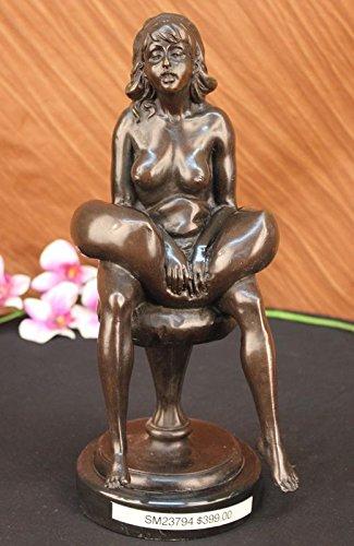 Firmato Preiss Madre Nudo Incinta bambino, Collezionismo di bronzo Sculture, Statue, Oggettistica per la casa, Office Decor ... 35x15 centimetri. (12 libbre). Bronzo reale.
