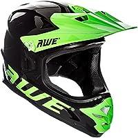 AWE® AWEBlast™ libre 5 Año Crash de repuesto * BMX Downhill - Casco para descensos, color negro y verde grande 58 - 60 cm