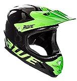 AWE AWEBlast gratis 5 Jahr Crash Ersatz * BMX Downhill Helm schwarz grün Medium 56-58 cm