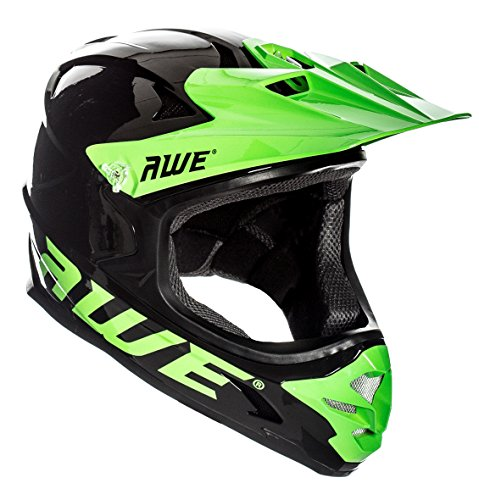 AWE AWEBlast gratuit 5 AN Crash de remplacement * BMX/Downhill/Full Face/Enduro casque Noir Vert Medium 56-58 cm