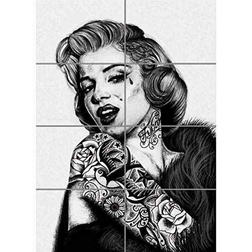 MARILYN MONROE UNIQUE TATTOO ICON GIANT ART PRINT WALL POSTER PLAKAT DRUCK PRINT WM018 -