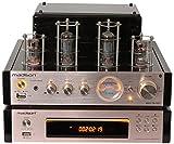 AMPLIFICATEUR Stereo A Lampes Tubes Vintage MAD-TA10-BT USB BT + Lecteur CD FM Télécommande chaîne HiFi