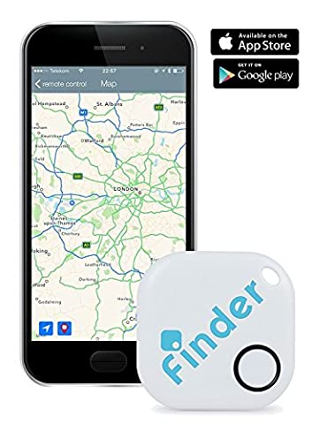 musegear® Key finder   Use smart-phone app to easily find your keys, remote control, phone (white, 1 Pack)