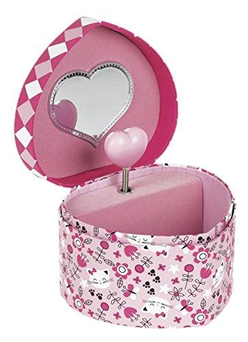 Janod Spielzeug - Spieluhr Schmuckkästchen Kätzchen Katze Herz, Rosa Pink (Cat Kostüme Meerjungfrau)