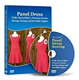 Panel Dress Sewing with Flared Skirt, Princess Seams, Facing and Lining - Video Lesson on DVD