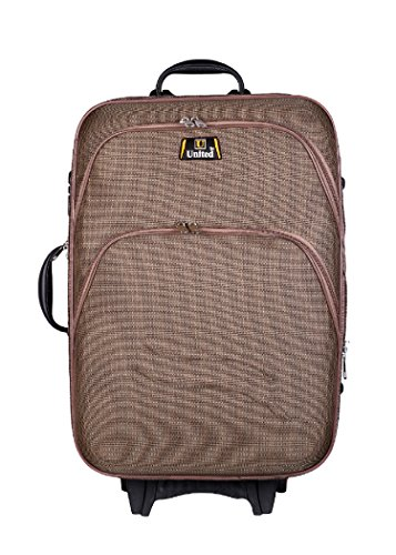 United Bag UTB039 Double Shell Sea Wave Trolley Bag - Medium(Brown)  available at amazon for Rs.1999
