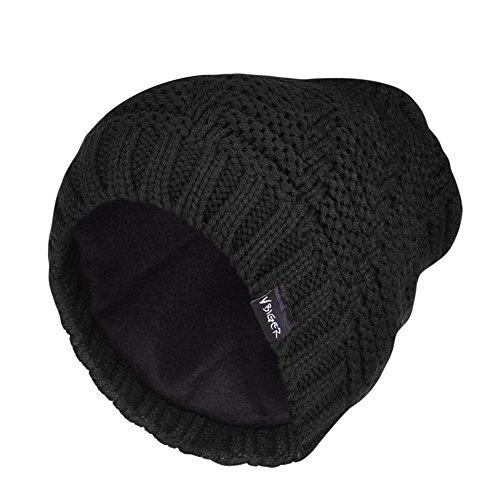 vbiger-bonnet-uomo-donna-mesh-a-costine-per-linverno-nero