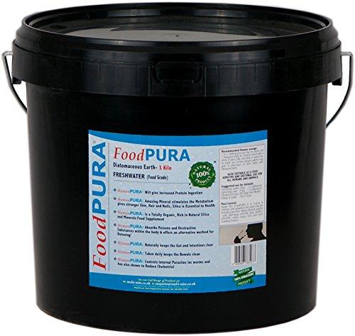 Terre De Diatomées De Catégorie Alimentaire Protecteur Naturel PURA® 3kg LIVRAISON GRATUITE 3 jours Godet de qualité alimentaire noir