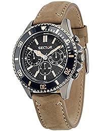 Sector Herren-Armbanduhr 235 Analog Quarz Leder R3251161015
