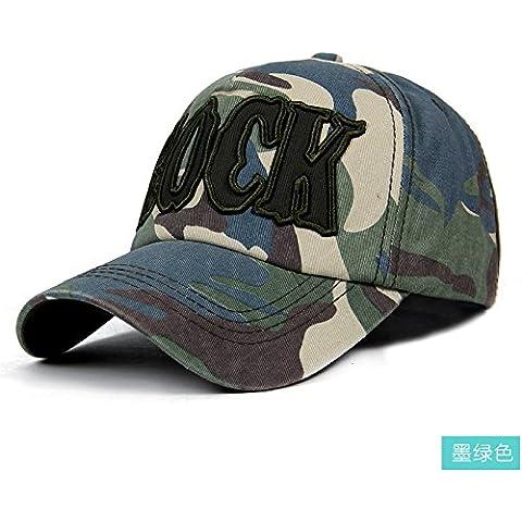 Dngy*Uomini e donne tappo coppie outdoor camouflage cappello da baseball elegante Tour Visor sunscreen bambini Oriente , verde scuro