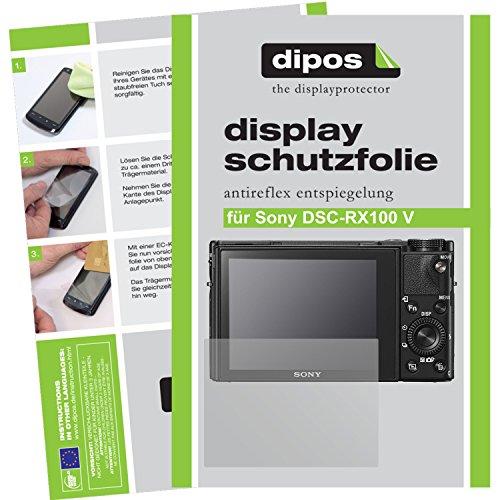 dipos I 6X Schutzfolie matt passend für Sony Cyber-Shot DSC-RX100 V Folie Displayschutzfolie