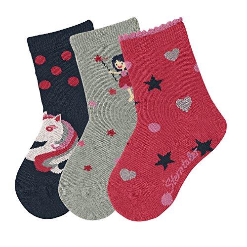 Sterntaler Baby Girls Socken Söckchen, 3er Pack, Einhorn-Motiv, Marine-Blau, 300, 19-22